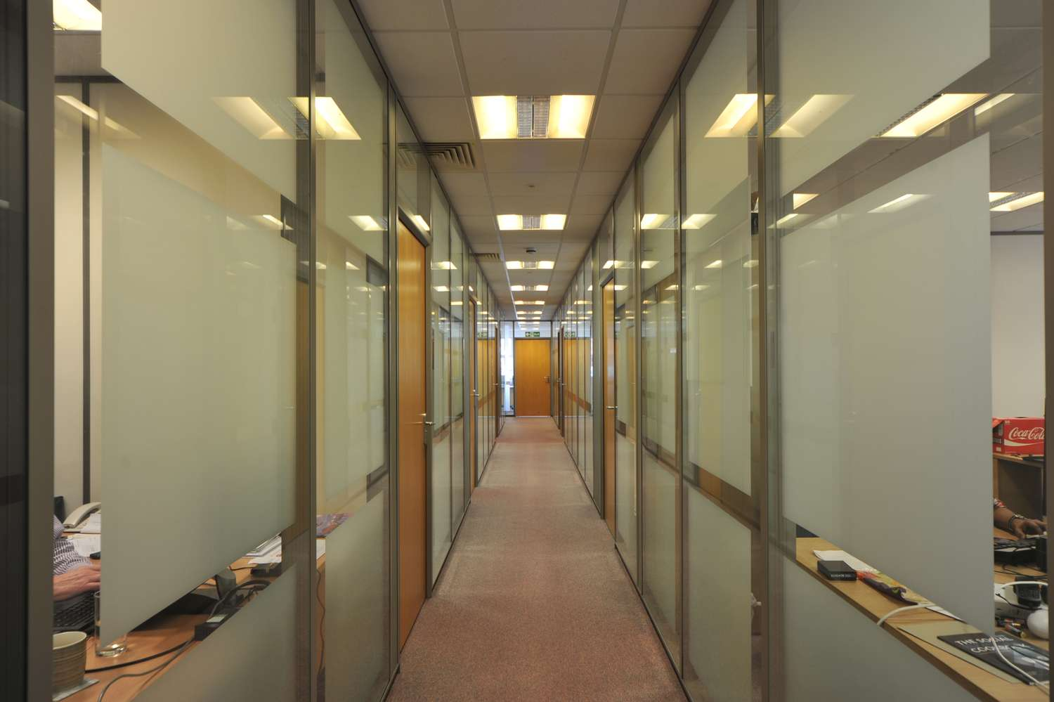serviced office corridor
