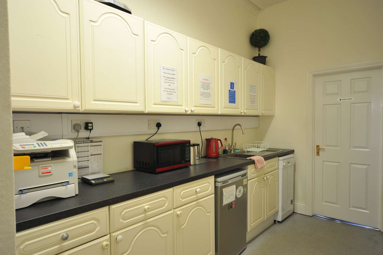 serviced office kitchen